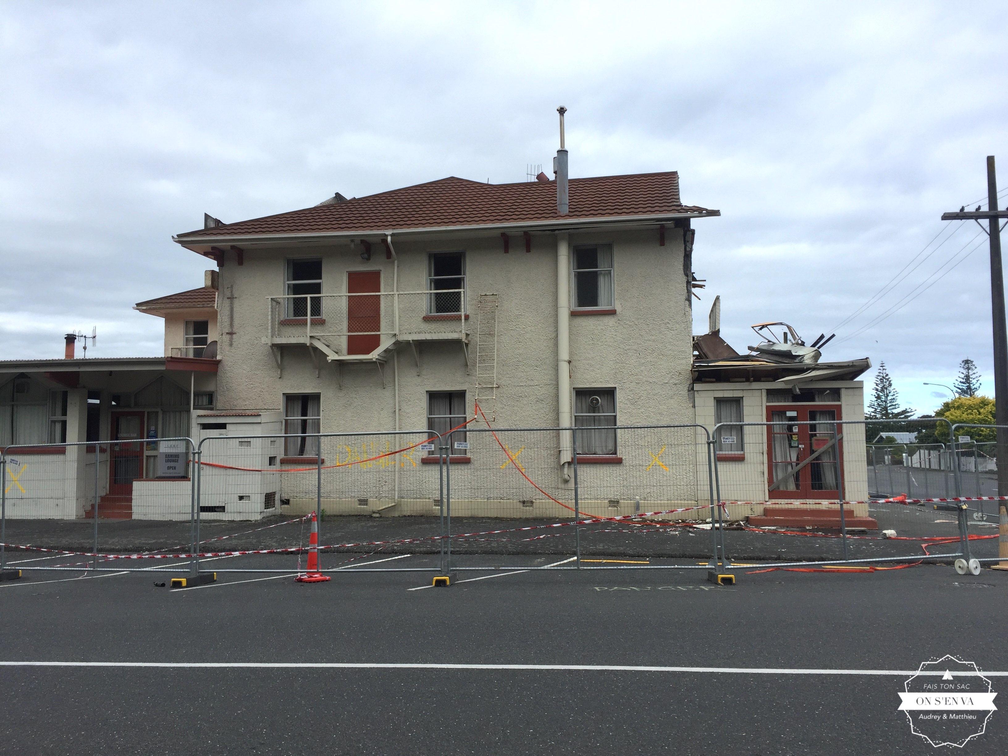 Les dégâts du tremblement de terre