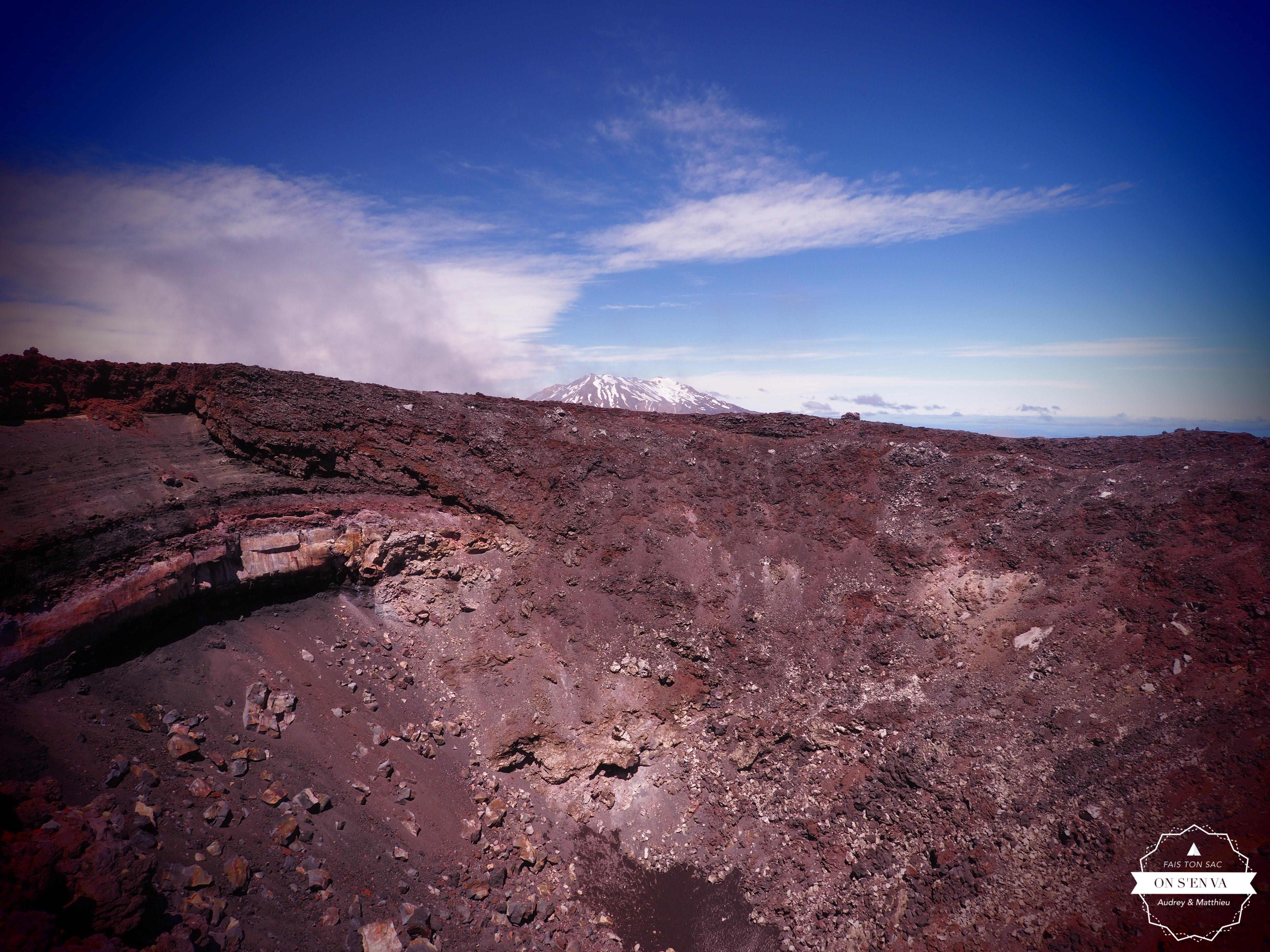Arrivée au bord du cratère