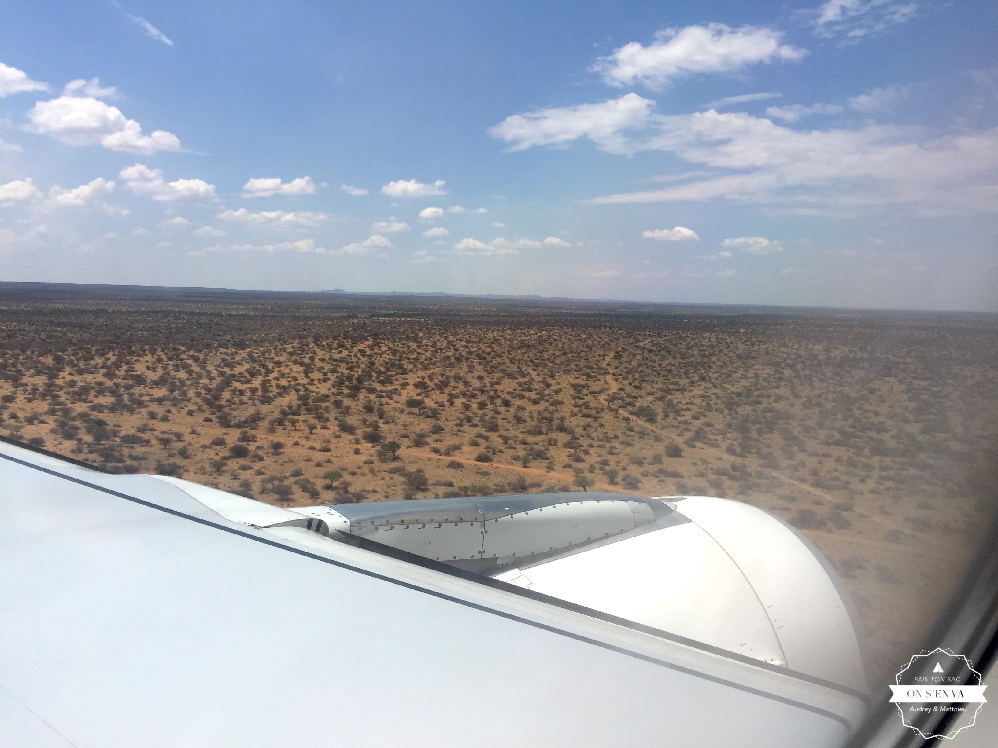 Arrivée en Namibie