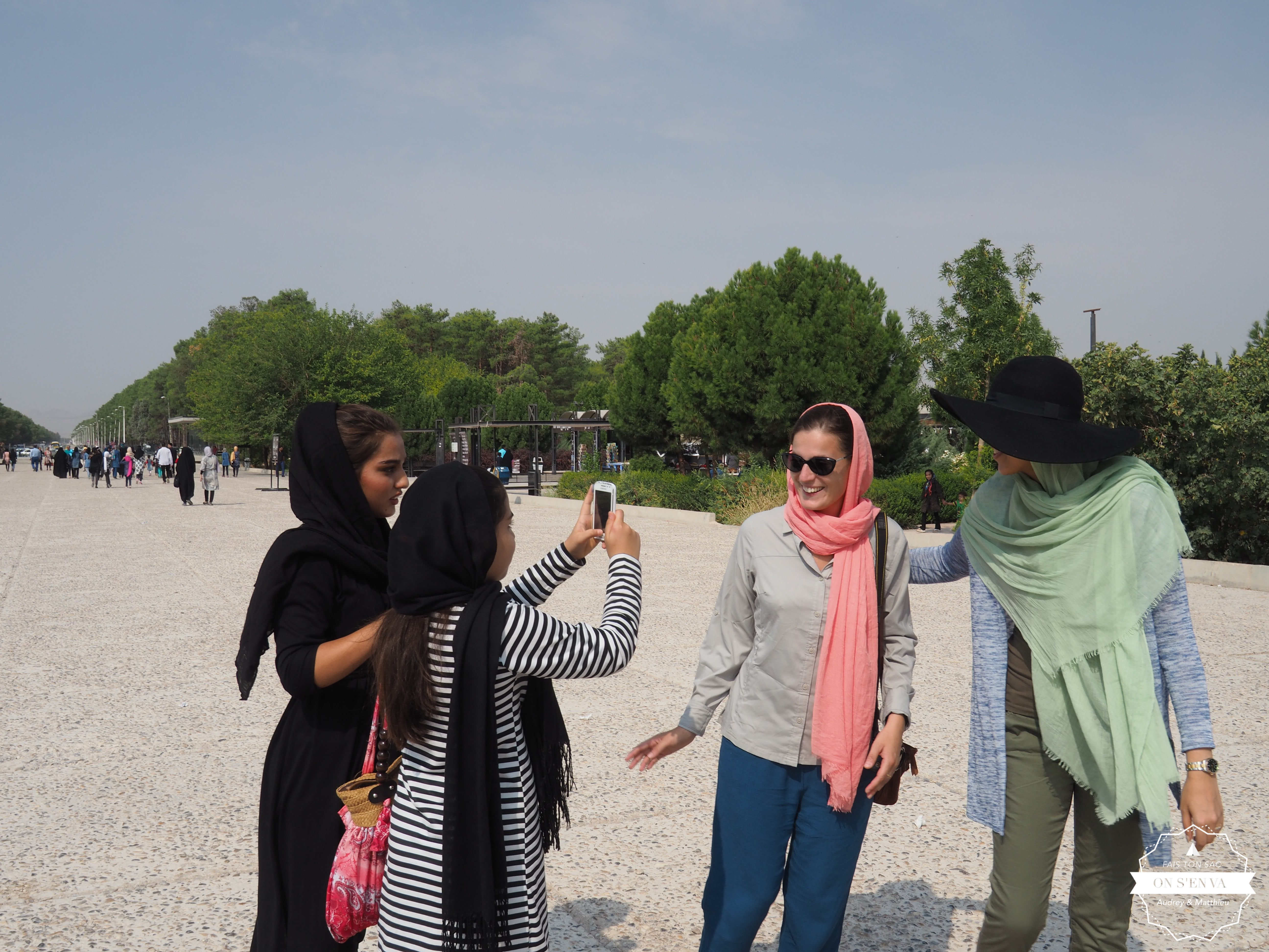 En arrivant à Persepolis