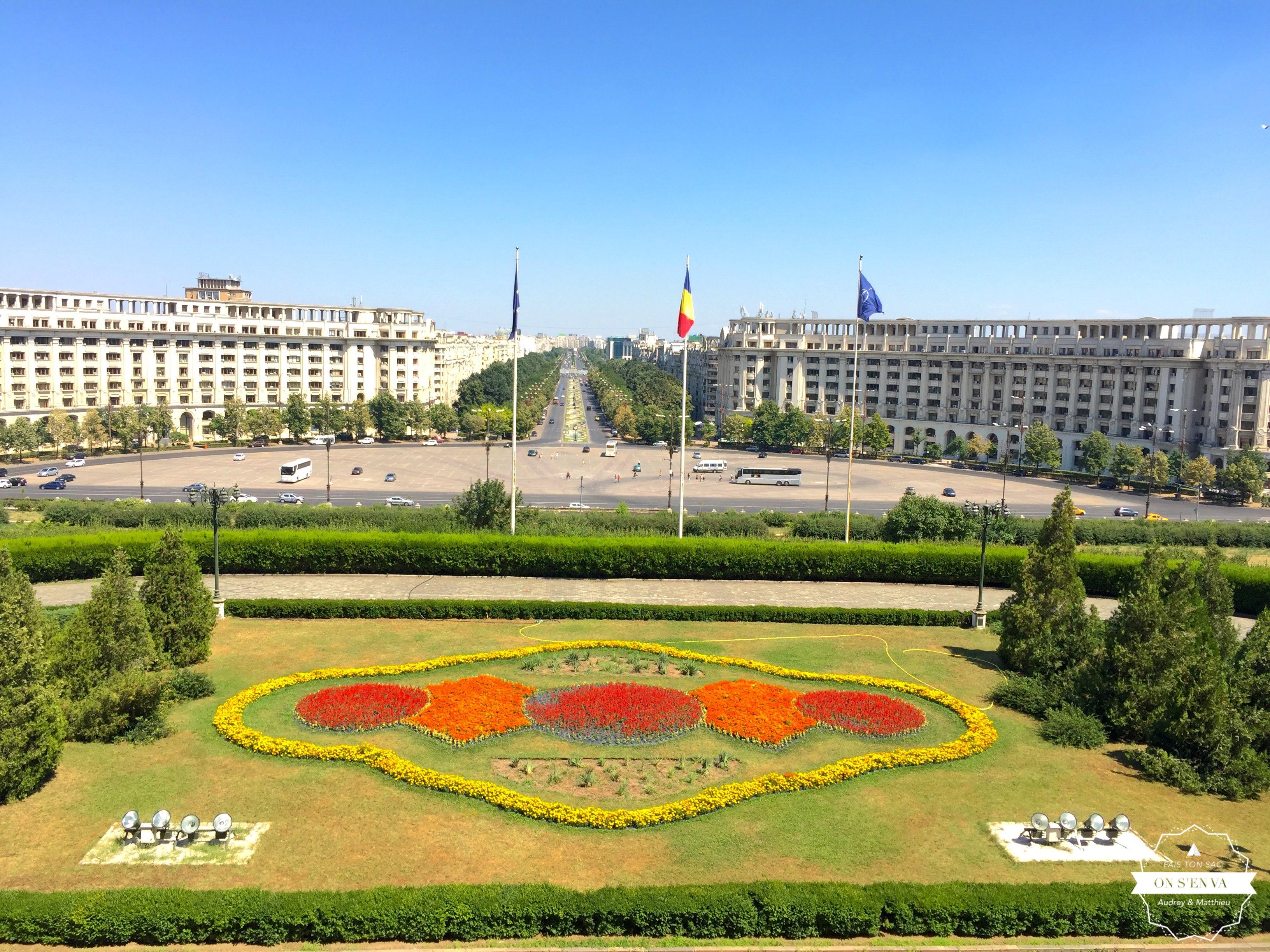 La vue depuis la terrasse du palais