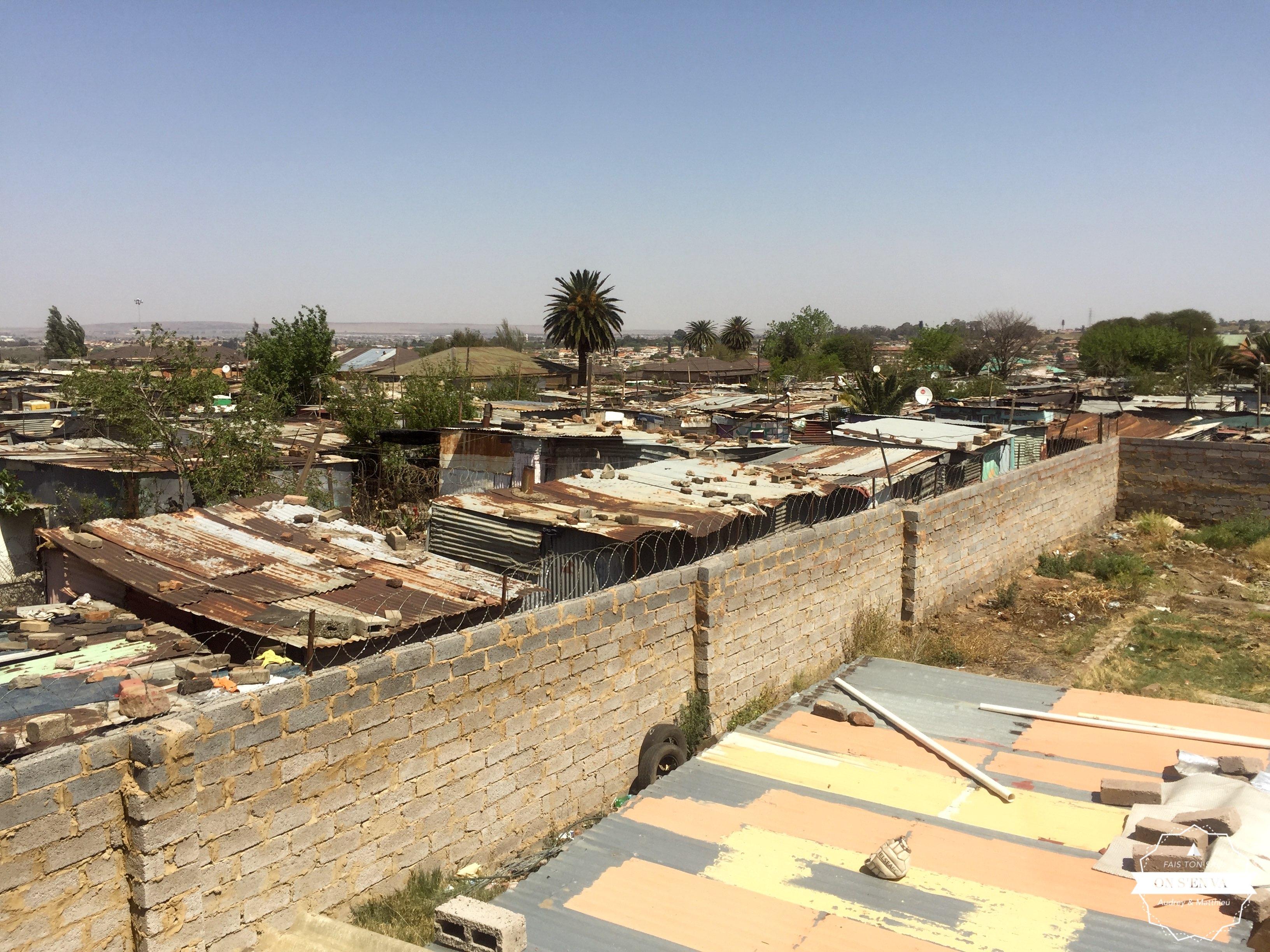 Les toits de Soweto