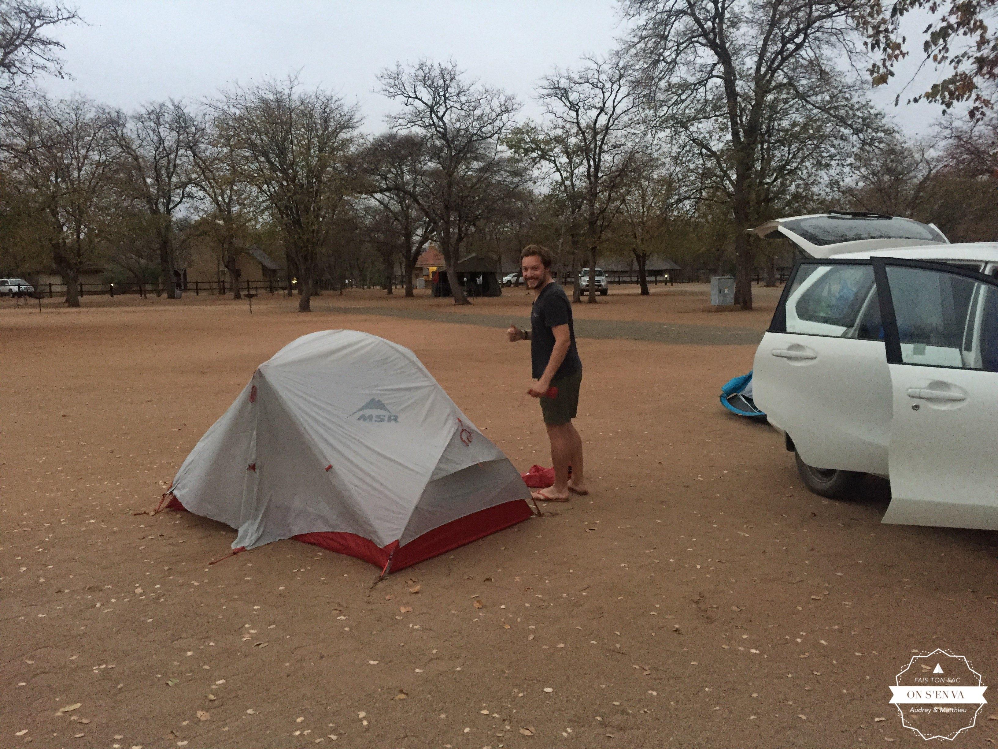 Premier réveil au Kruger