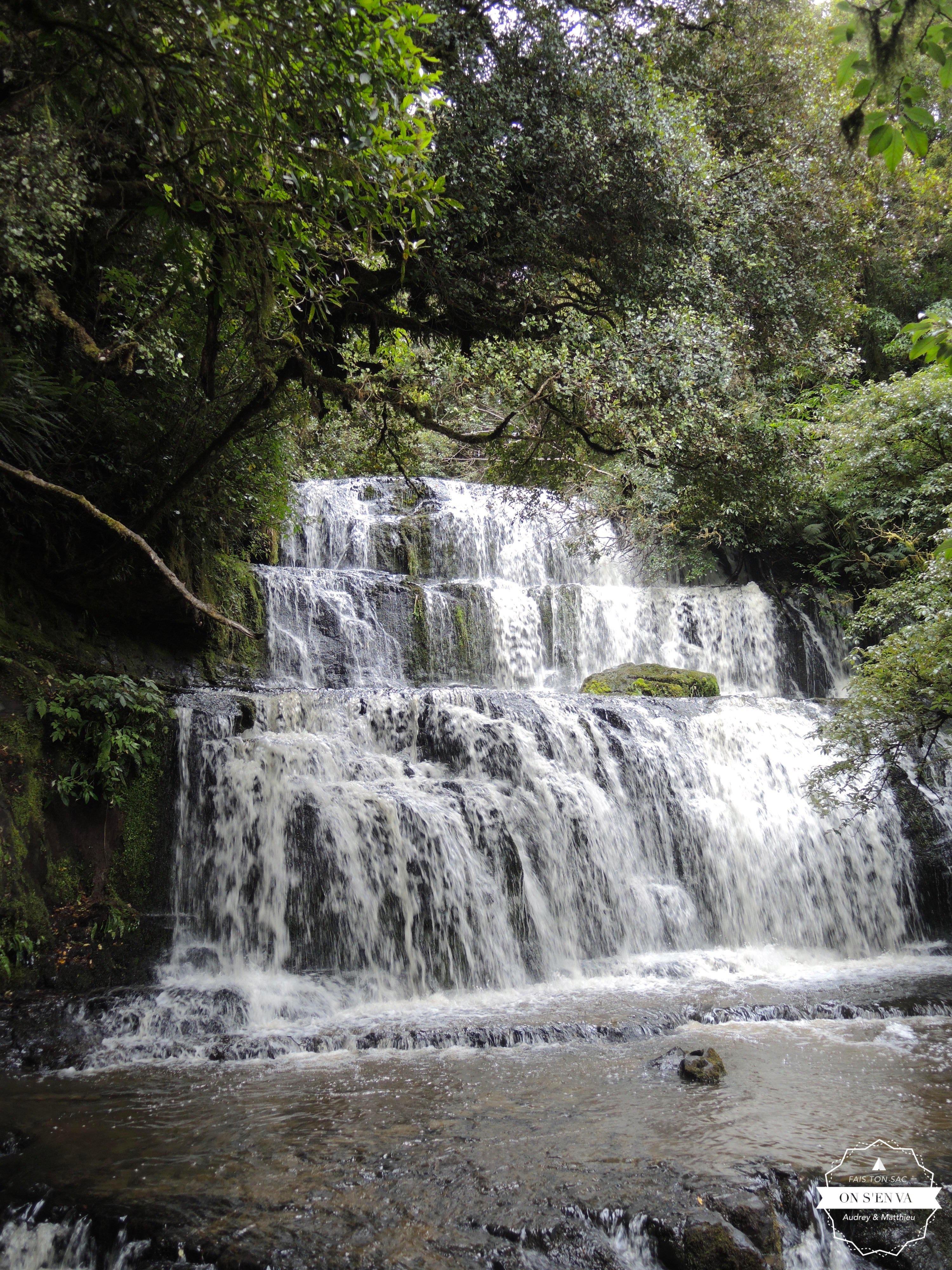 Les chutes de Purakaunui