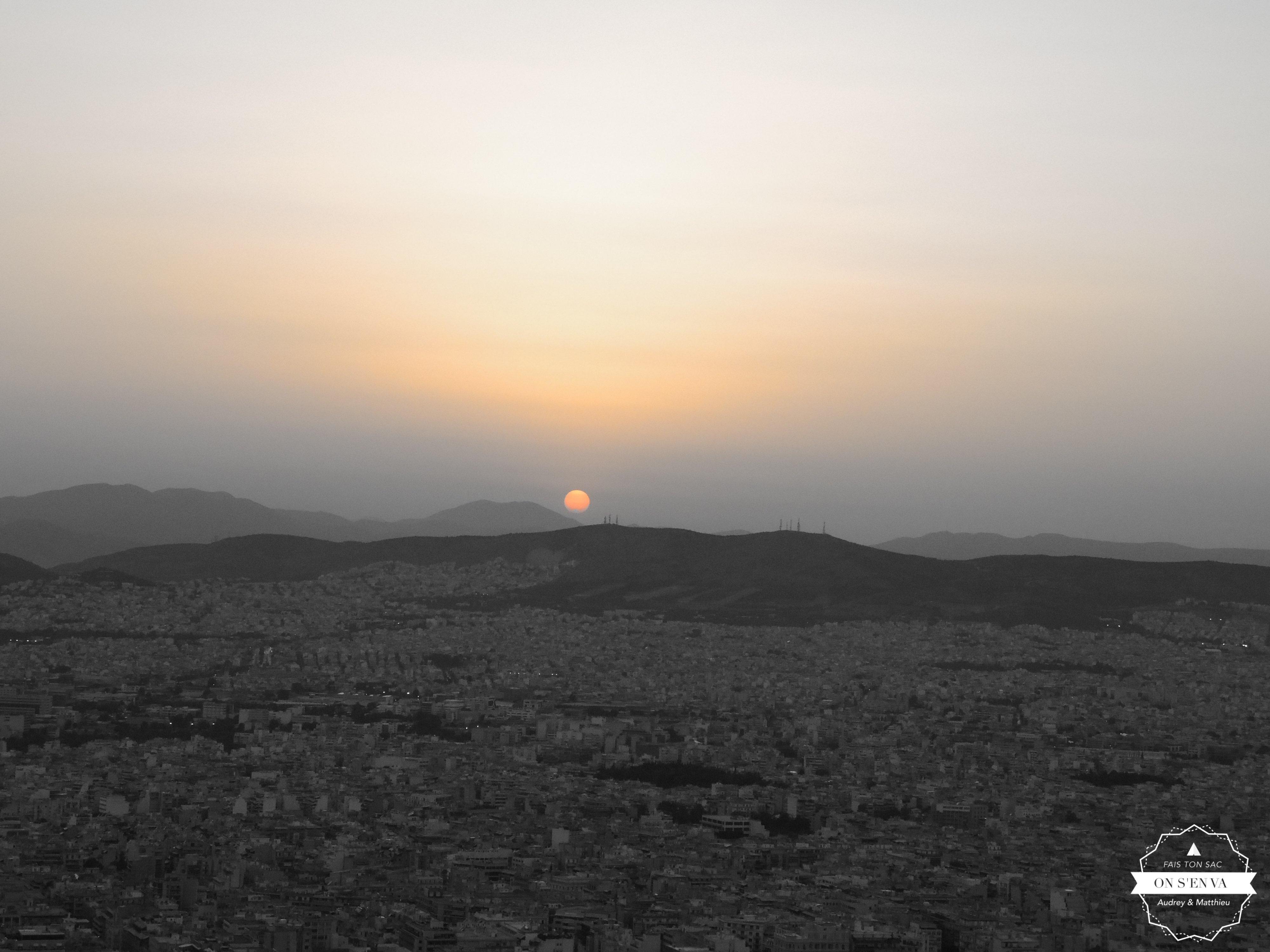 Vue d'Athènes du Mont Lycabette