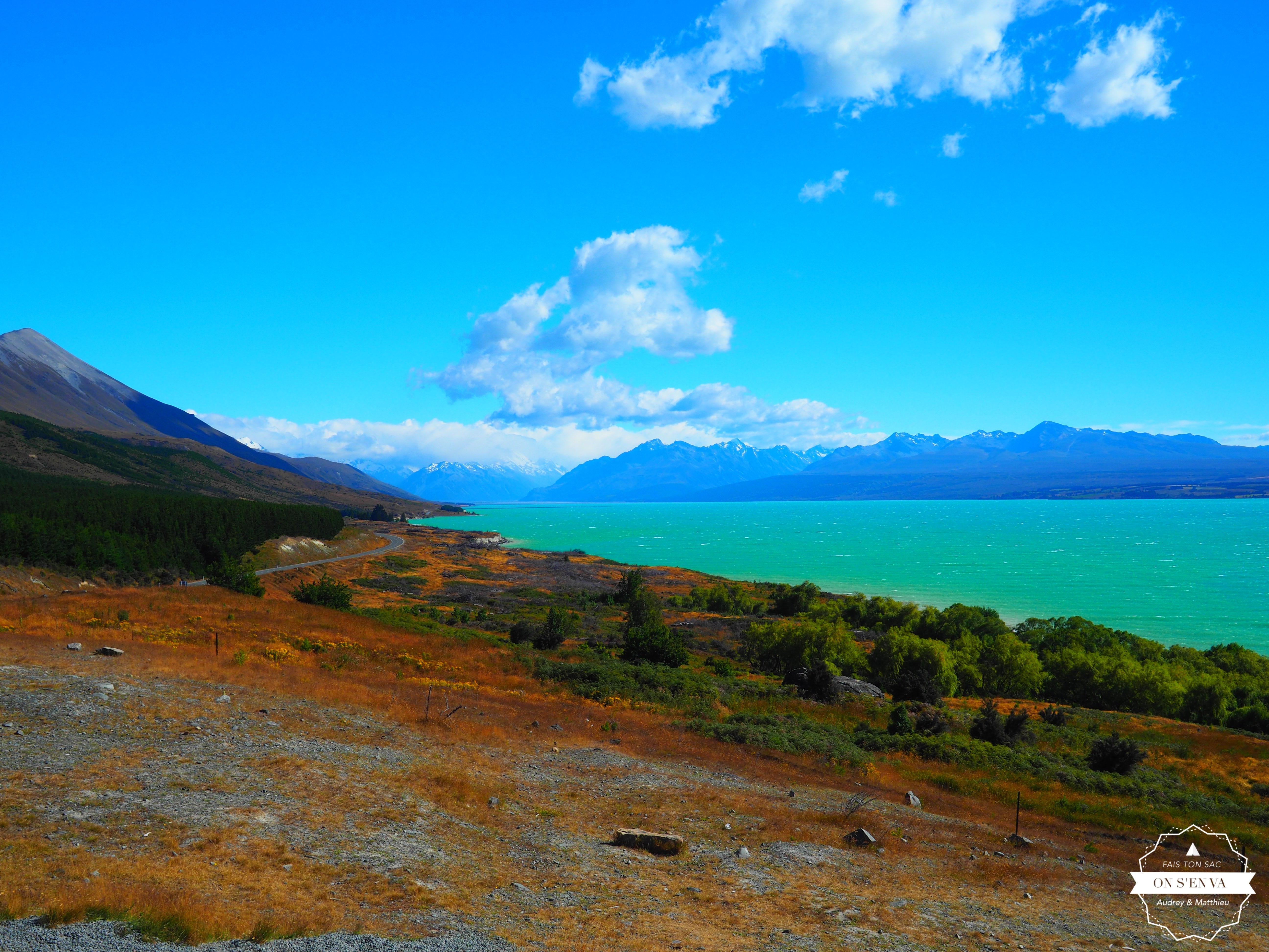 ... depuis le lac Pukaki