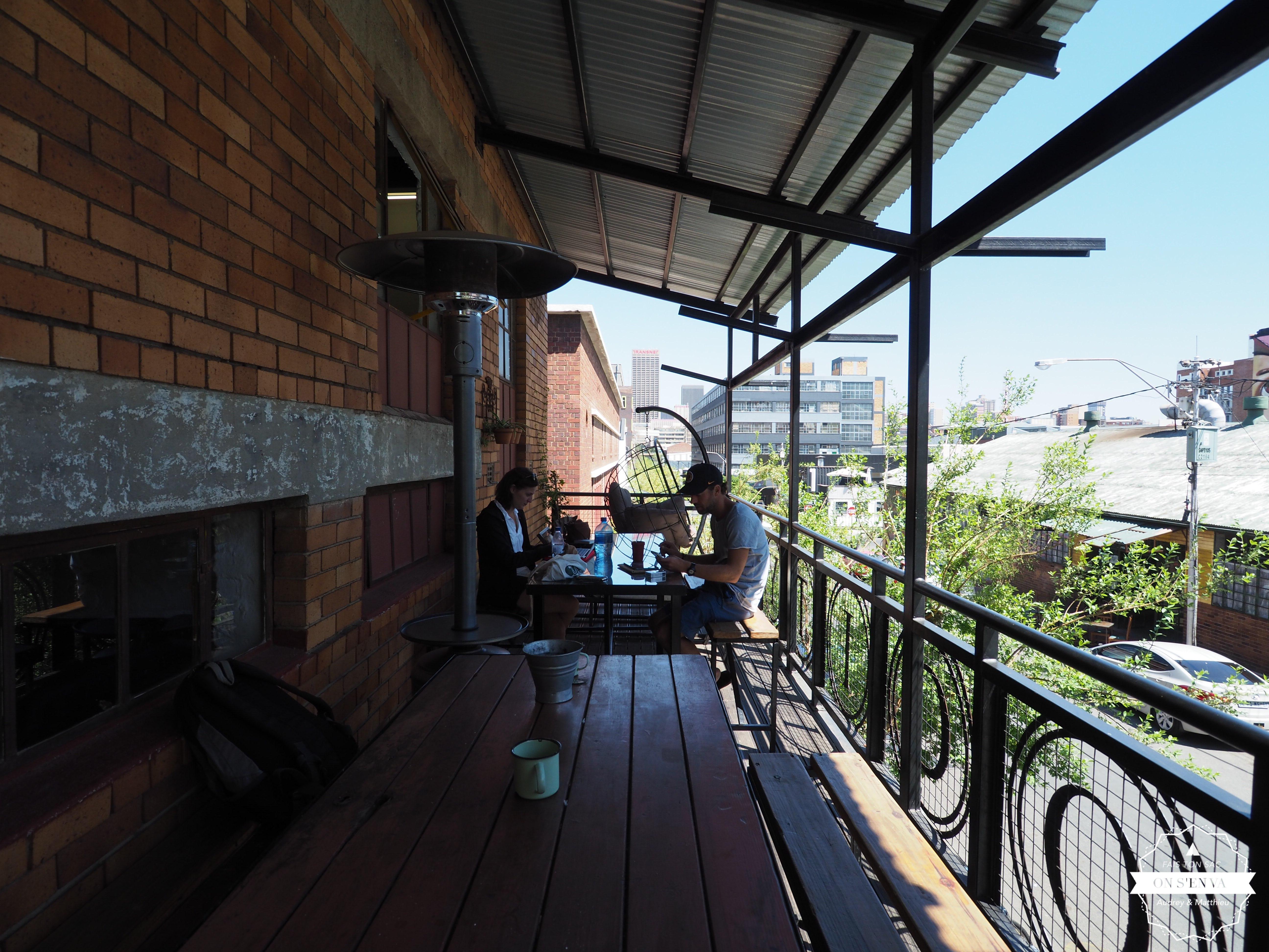 La terrasse de notre hostel