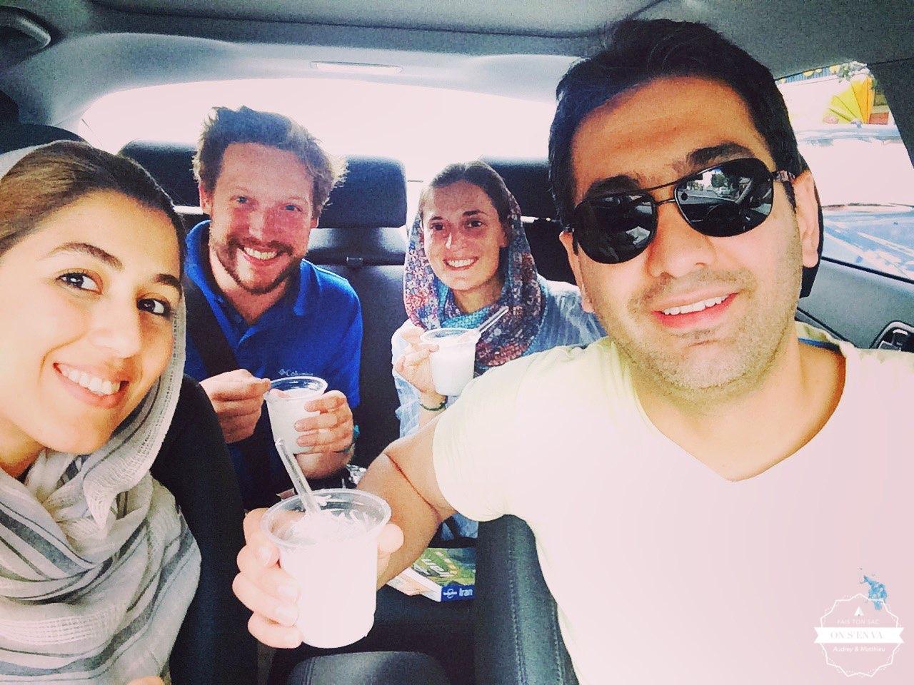 Avec Armin et Leila
