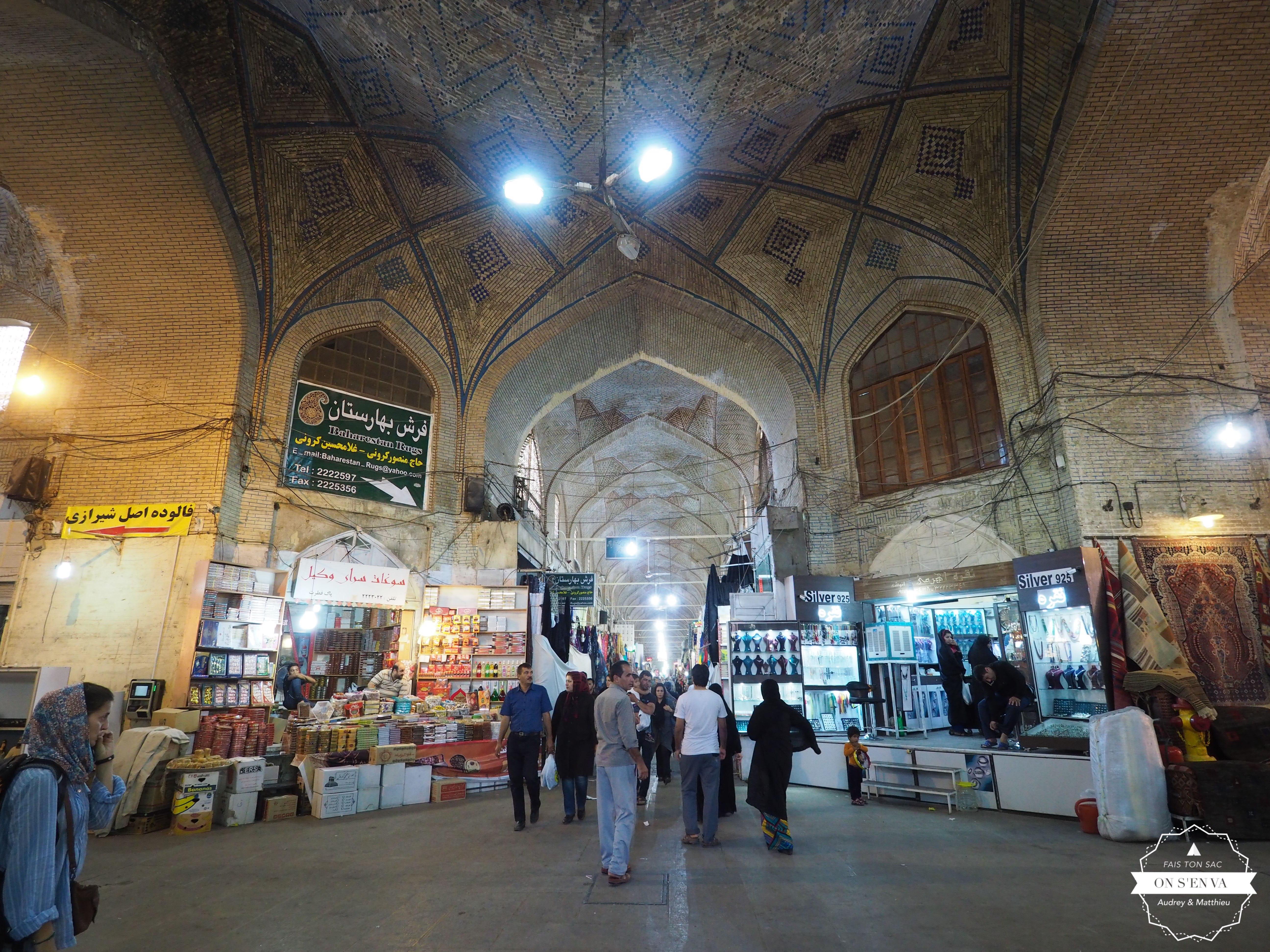 Dans le bazar de Chiraz