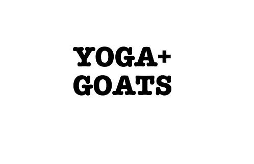 Yoga+GOATS