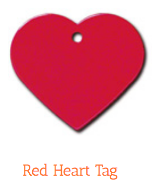 Heart, Red, Large, ID Tag