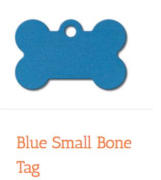 Dark Blue, Bone, Small, ID Tag