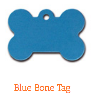 Blue Bone, Large, ID Tag