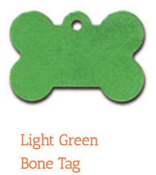 Green Bone, Large, ID Tag