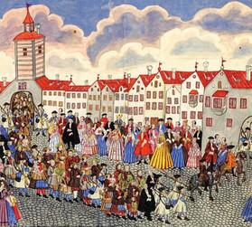 Ankunft von Salzburger Emigranten in Augsburg, 1732, Internet
