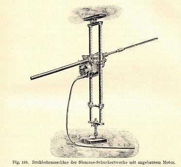 Elektrische Drehbohrmaschine von Siemens & Halske, Heise - Herbst, 1908