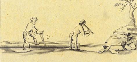 Verlegen von Holzröhren, 1807, Archiv ÖSAG