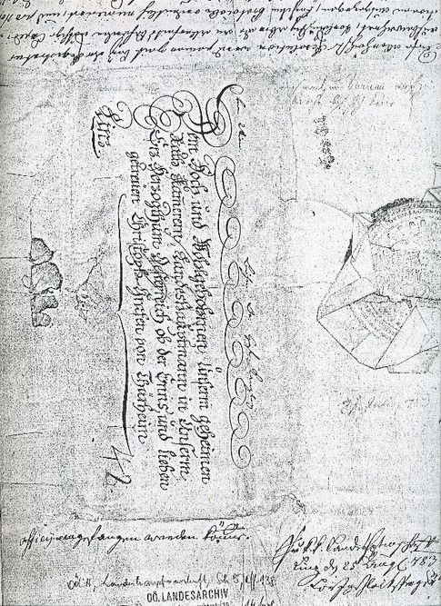 Unterstellung Salzkammergut unter Landeshauptmannschaft, 1783, OÖ Landesarchiv