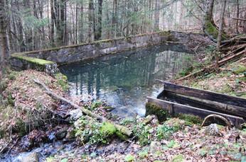 Wasserbecken neben Einwässerungsschurf, 11.2014, Archiv Kranabitl