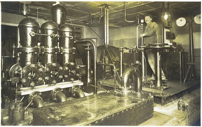 Kaiser Leopold - Stollen, Distler - Schacht, Schachtmaschine, um 1930, Archiv Nussbaumer