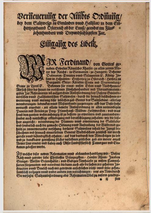 2. Reformationslibell, 1. Textseite, ÖNB
