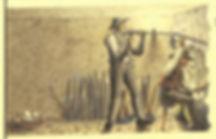 Händisches Bohren mit Bohrmeißel und Schlägel, F. X.  Kefer, 1836, Archiv Salinen Austriajpg