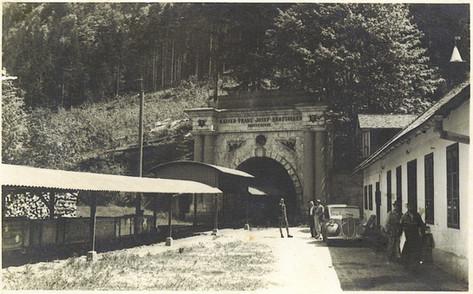 Kaiser Franz Josef – Erbstollen, Portal, um 1940, Archiv Nussbaumer
