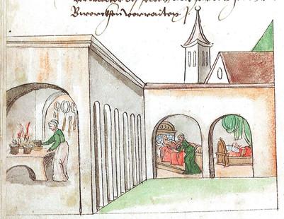 Knappschaftsspital, Schwazer Bergbuch, 1556, Internet