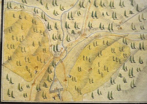 Situation Steinberg, Signatur 214, 1812, Dicklberger, Archiv Salinen Austria