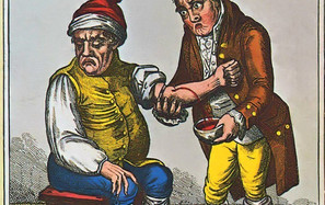 : Aderlass beim Bader, 1805, Internet