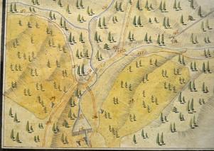 Situation Steinberg, 1812, Dicklberger, Archiv IGM