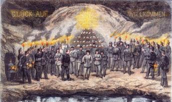 , Bergfest, Erzherzog Karl – Wehr, 1864, Archiv Salinen Austria
