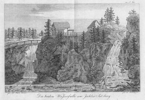 "Kaiserin Maria Theresia – Stollen, Knappenhaus, 1809, aus Schultes ""Reisen durch OÖ"""