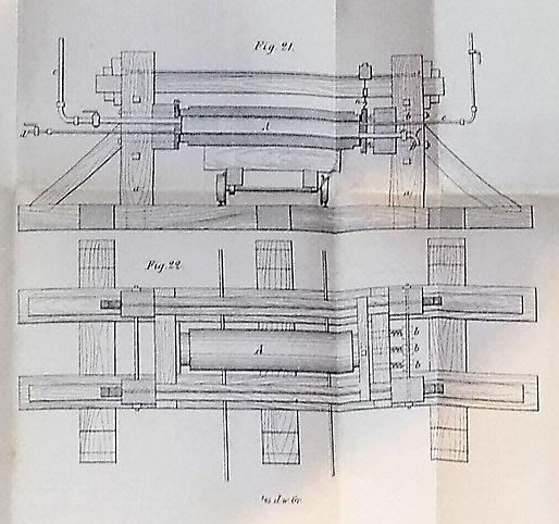 : Prüfmaschine für Röhren, Balzberg, 1877