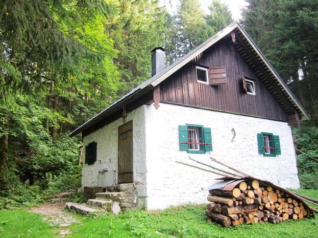 Lipplesgraben Mundloch mit Berghaus, Archiv IGM