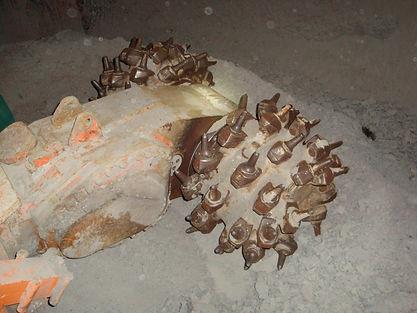 Teilschnittmaschine VOEST - ALPINE, AM 45, Schrämmkopf, 2009, Archiv Kranabitl