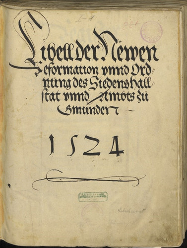 Reformationslibell 1524, Deckblatt, OÖ Landesarchiv