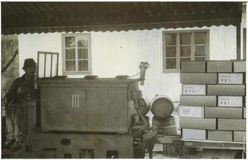 Kaiser Franz Josef – Erbstollen, Kunstgütertransport, 1944, Archiv Nussbaumer