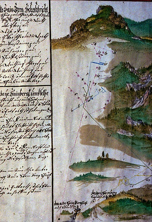 Situation Steinberg, 1730, Zierler, Archiv Salinen Austria