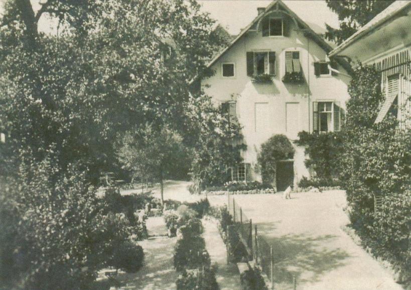 """Brennersches Krankenhaus im Egglmoos, Ischl, um 1890, F. X. Mannert """"Ischl im Wandel der Zeit 2.0"""""""