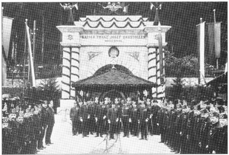 "Kaiser Franz Josef – Erbstollen, Eröffnungsfeier, 1898, aus Lipp ""Ischler Blätter""pg"