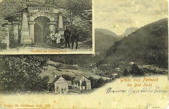 Kaiserin Maria Ludovika – Stollen, Fremdeneinfahrt, um 1900, Archiv IGM