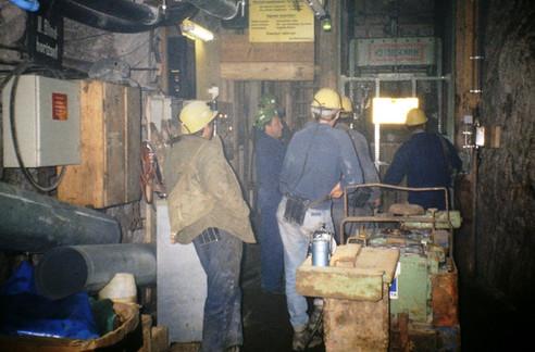 II. Tiefbau, Zentralschacht, Füllort, 09 1991, Archiv Kranabitl