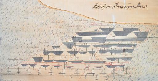 Oberflächennahe Abbaue, Kefer 1820, Archiv Salinen Austria