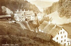 """Kaiserin Maria Theresia – Stollen, Berggebäude, um 1930, aus Gollner """"Sommerfrische im Ausseer Land"""""""