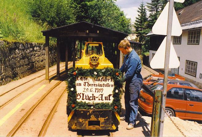 """Kaiserin Maria Theresia – Stollen, letzte Anfahrt, 29 06 1989, aus Schiendorfer """"Perneck"""""""