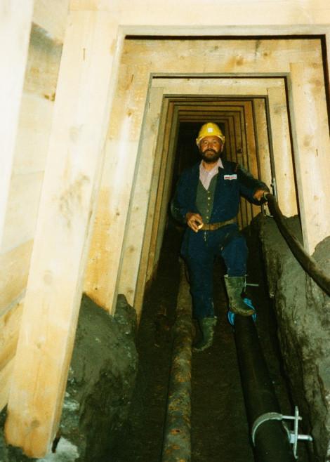 Hauptschachtricht, Einwässerungsleitungen, 09 1998, Archiv Kranabitl