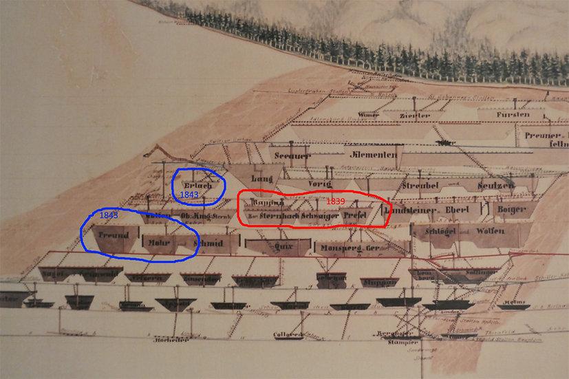 1839 und1843 Werksniedergänge und Wassereinbruch bis zum Ludovikastollen, Salinenarchiv