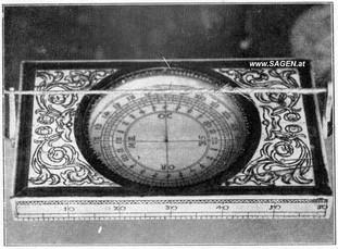 Grubenkompass, Salzbergbau Hallstatt, um 1720, Internet