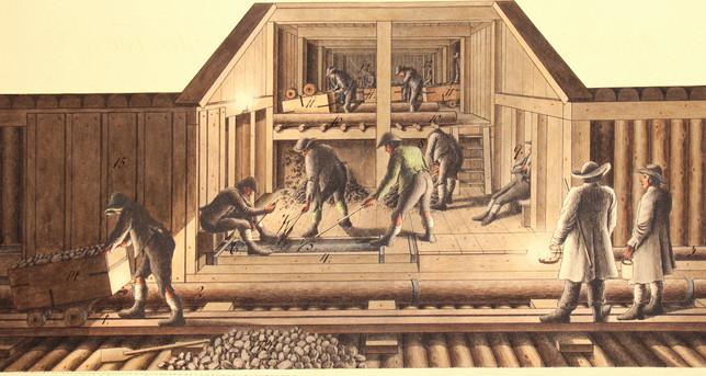 ischler salzberg_maria theresia stollen_laistausschwemmung_F.X.Kefer_1836_archiv salinen austria